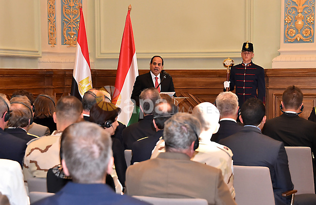 Egyptian President Abdel Fattah al-Sisi arrives at Budapest, Hungary, 05 June 2015. Al-Sisi is on a two-day visit in Hungary. Photo by Egyptian Presidency