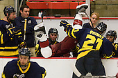 Ryan Flanigan (Merrimack - 20), Carter Madsen (Merrimack - 9), Danny Fick (Harvard - 7), Francois Ouimet (Merrimack - 21), Chris Barton (Merrimack - 23) - The visiting Merrimack College Warriors defeated the Harvard University Crimson 3-1 (EN) at Bright Hockey Center on Tuesday, November 30, 2010.