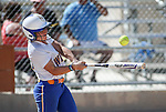 Wildcat's Makaylee Jaussi hits against Colorado Northwestern at Edmonds Sports Complex Carson City, Nev., on Friday, April 17, 2015.<br /> Photo by Cathleen Allison