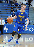 January 14, 2017:  San Jose State guard, EJ Boyce #11, during the NCAA basketball game between the San Jose State Spartans and the Air Force Academy Falcons, Clune Arena, U.S. Air Force Academy, Colorado Springs, Colorado.  San Jose State defeats Air Force 89-85.