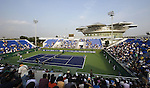SHANGHAI, CHINA - OCTOBER 10:  General view of the Qi Zhong tennis center court 2 during qualyfing match in Shanghai. The 2009 Shanghai ATP Masters 1000 will be held from 10th to 18th October at the Qi Zhong tennis center.   Photo by Victor Fraile / The Power of Sport Images