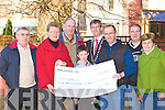 John O'Shea presents the South Kerry MS branch a cheque for EUR29,205 which was raised in the 2008 Old Kenmare walk on the 12th October in the Gleneagle Hotel Killarney on Saturday l-r: Pat Cronin, Mary Casey, Pat O'Neill, Peter O'Donoghue, Patrick O'Donoghue Killarney Mayor, John O'Shea, Joe McCarthy and Rosemary Nolan