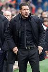 Atletico de Madrid's coach Diego Pablo Simeone during La Liga match. February 6,2016. (ALTERPHOTOS/Acero)