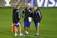 Argentina manager Alejandro Sabella during the training session
