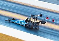 Oct 12, 2019; Concord, NC, USA; NHRA top fuel driver Leah Pritchett during qualifying for the Carolina Nationals at zMax Dragway. Mandatory Credit: Mark J. Rebilas-USA TODAY Sports