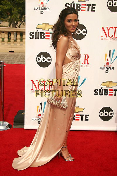 MARISOL NICHOLS.2007 NCLR ALMA Awards at the Pasadena Civic Center,.Pasadena, California, USA,.1st June 2007..full length long cream dress silk satin.CAP/ADM/BP.©Byron Purvis/AdMedia/Capital Pictures.