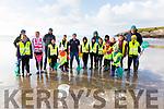 Pupils from Scoil an Ghleanna taking part in a Sea Shore Safari on St Finnians Beach on Wednesday par of the Explorers Education Program facilitated by Sea Synergy, Waterville pictured here l-r; Sarah Albrecht(Sea Synergy & Explorers Education Program), Meabh Ní Shuilleabháin, Orla de Bharóid, Cilian Ó Loingsigh, Peadar Ó Gabháin, Dáithí Ó Sé, Eadaoin Nic Giolla Chudda, Eleanor Turner(Sea Synergy & Explorers Education Program), Tadhg ÓGabháin, Conor Ó Siochrú, Liam Mac Gabhann, Kirill Khudobakhshov, Emma Ní Chéilleachair, Katie Ní Chéilleachair, Gemma Musgrave, Féilim Ó Suilleabháin, Hannah Ní Mhurchú, Jack Ó Céilleachair agus Shane Daly.