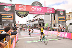 Enrico Battaglin (ITA) Team Lotto NL-Jumbo wins Stage 5 of the 2018 Giro d'Italia, running 153km from Agrigento to Santa Ninfa (Valle del Belice), Sicily, Italy. 9th May 2018.<br /> Picture: LaPresse/Massimo Paolone | Cyclefile<br /> <br /> <br /> All photos usage must carry mandatory copyright credit (&copy; Cyclefile | LaPresse/Massimo Paolone)