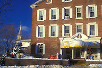 AJ5951, country inn, hotel, inn, resort, lodge, winter, Middlebury, The Middlebury Inn (an Historic Country Inn) on a sunny day in winter in Middlebury in Addison County in the state of Vermont.