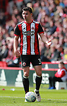 Enda Stevens of Sheffield Utd  during the championship match at the Bramall Lane Stadium, Sheffield. Picture date 14th April 2018. Picture credit should read: Simon Bellis/Sportimage