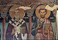 CHYPRE      le Troodos       10<br />ValŽe de la Solea    Galata<br />Eglise  de l'Archangelos Micha&bull;l<br />Fresques -deb. XVI style post-byzantin