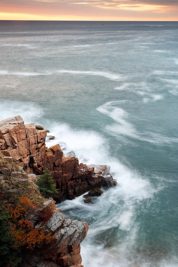 Rocky shoreline near Monument Cove, Acadia National Park, near Bar Harbor, Maine, USA