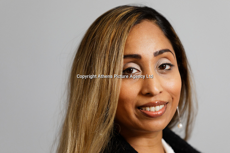 Portrait of lifestyle strategist Preeti Ravangave at the Village Hotel in Swansea, Wales, UK. Tuesday 14 May 2019