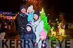 Enjoying the New Year's Eve fireworks Spectacular in Denny Street were Daniel, Sinead, Kira Carmel and Graham Spring