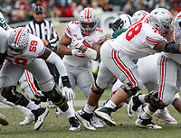 Ohio State Buckeyes running back J.K. Dobbins (2) carries the ball during the second quarter of a NCAA college football game between the Michigan State Spartans and the Ohio State Buckeyes on Saturday, November 10, 2018 at Spartan Stadium in East Lansing, Michigan. [Joshua A. Bickel/Dispatch]