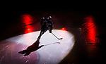 S&ouml;dert&auml;lje 2014-09-22 Ishockey Hockeyallsvenskan S&ouml;dert&auml;lje SK - IF Bj&ouml;rkl&ouml;ven :  <br /> S&ouml;dert&auml;ljespelare i ljuset av en spotlight under ett intro innan matchen mellan S&ouml;dert&auml;lje och Bj&ouml;rkl&ouml;ven<br /> (Foto: Kenta J&ouml;nsson) Nyckelord: Axa Sports Center Hockey Ishockey S&ouml;dert&auml;lje SK SSK Bj&ouml;rkl&ouml;ven L&ouml;ven IFB  intro genre
