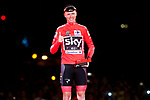 Christopher Froome (GBR) Team Sky wins the overall classification Red Jersey of La Vuelta at the end of the final Stage 21 of the 2017 La Vuelta, running 117.6km from Arroyomolinos to Madrid, Spain. 10th September 2017.<br /> Picture: Unipublic/&copy;photogomezsport | Cyclefile<br /> <br /> <br /> All photos usage must carry mandatory copyright credit (&copy; Cyclefile | Unipublic/&copy;photogomezsport)