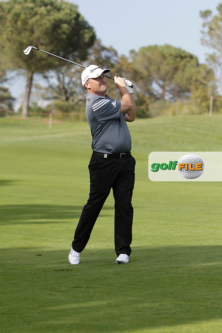 Damien McGrane (IRL) on the 10th during Practice Day of The Open De Espana at The PGA Catalunya Resort on Tuesday 13th May 2014.<br /> Picture:  Thos Caffrey / www.golffile.ie