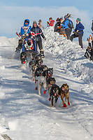 Aaron Peck on Cordova St. hill during the Anchorage start day of Iditarod 2018 on Cordova St. hill during the Anchorage start day of Iditarod 2019