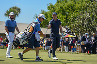Matthew Wallace (ENG) and Tyrrell Hatton (ENG) head down 10 during round 1 of the Arnold Palmer Invitational at Bay Hill Golf Club, Bay Hill, Florida. 3/7/2019.<br /> Picture: Golffile | Ken Murray<br /> <br /> <br /> All photo usage must carry mandatory copyright credit (&copy; Golffile | Ken Murray)
