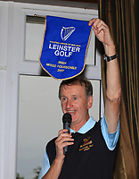 Joe Morris (Team Manager Tullamore) with the Leinster Pennant at the award ceremony after the Final round of the Irish Mixed Foursomes Leinster Final at Millicent Golf Club, Clane, Co. Kildare. 06/08/2017<br /> Picture: Golffile | Thos Caffrey<br /> <br /> <br /> All photo usage must carry mandatory copyright credit     (&copy; Golffile | Thos Caffrey)
