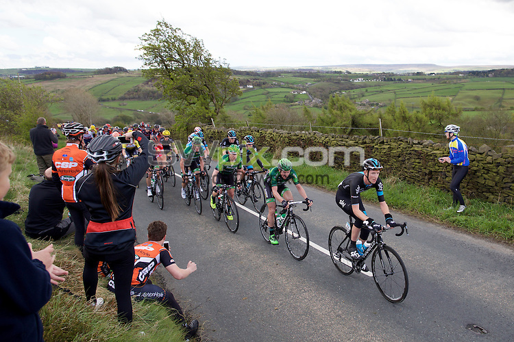 Pix: Shaun Flannery/SWpix.com<br /> <br /> 3rd May 2015<br /> 2015 Tour de Yorkshire<br /> Day 3 - Wakefield - Leeds<br /> Cote de Goose Eye