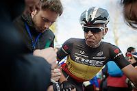 Belgian Champion Stijn Devolder (BEL) interviewed post-race<br /> <br /> GP Le Samyn 2014