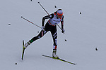Debora Agreiter competes during the 5 Km Individual Free race of Tour de ski as part of the FIS Cross Country Ski World Cup  in Dobbiaco, Toblach, on January 8, 2016. American Jessica Diggins wins the race, ahead of Norway's Heidi Weng and third place for actual leader Ingvild Flugstad Oestberg from Norway. Credit: Pierre Teyssot