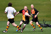 Golden Oldies Rugby - Upper Hutt Yellow Bellie Rams, Palmerston North Evergreens, Wanganui Bohemians, Levin Crusaders, Hutt Valley Old Boys Marist Saints &Sinners and Avalon Avanuva at Maidstone Park, Upper Hutt, New Zealand on Sunday 13 September 2020. <br /> Photo by Masanori Udagawa. <br /> www.photowellington.photoshelter.com