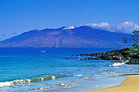 Kayaking off beautiful Wailea Beach with the West Maui mountains in the background