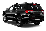 Car pictures of rear three quarter view of 2020 GMC Acadia Denali 5 Door SUV Angular Rear