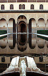 Court of the Myrtles in the Alhambra Palace<br /> <br /> Patio de los Arrayanes en el Palacio de Alhambra<br /> <br /> Myrthenhof im Alhambra Palast<br /> <br /> 3929 x 2506 px<br /> Original: 35 mm slide transparency