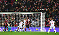 9th November 2019; Wembley Stadium, London, England; International Womens Football Friendly, England women versus Germany women; Ellen White of England scores in 44th minute to bring the scores level 1-1 - Editorial Use
