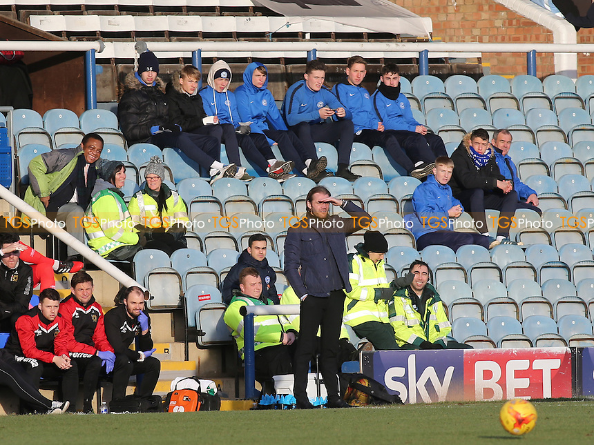 MK Dons Manager, Robbie Neilson looks on during Peterborough United vs MK Dons, Sky Bet EFL League 1 Football at London Road on 28th January 2017