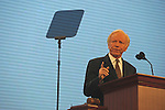 Senator Joseph Lieberman of Connecticut speaks on the second day of the Republican National Convention at the XCel Center in Saint Paul, Minnesota on September 2, 2008.