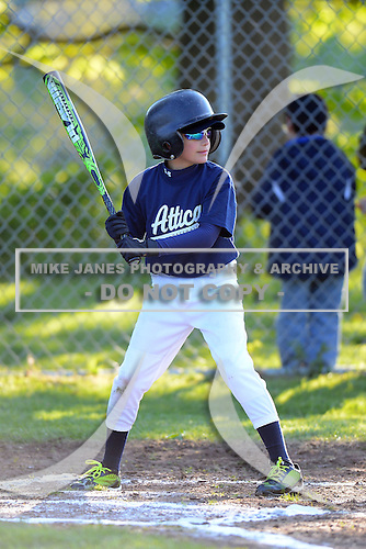 Attica Youth Athletics 9/10 year old baseball vs the Pembroke Dragons at AYA Park on May 13, 2013 in Attica, New York. (Copyright Mike Janes Photography)