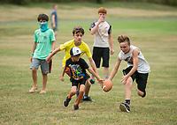 NWA Democrat-Gazette/BEN GOFF @NWABENGOFF<br /> Children play Tuesday, July 3, 2018, during the Bella Vista Independence Day Blues Festival at Loch Lomond in Bella Vista.