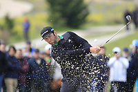 Jon Rahm (ESP) on the 1st during Round 1 of the Open de Espana 2018 at Centro Nacional de Golf on Thursday 12th April 2018.<br /> Picture:  Thos Caffrey / www.golffile.ie<br /> <br /> All photo usage must carry mandatory copyright credit (&copy; Golffile | Thos Caffrey)