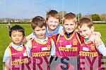 Castleisland Presentation athletes at the Primary schools athletic championships in An Riocht track Castleisland on Thursday was l-r: Arsky Arino, Luke Walsh, Darren O'Donoghue, Diarmuid Mitchell and Shane Fagin