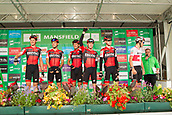 6th September 2017, Mansfield, England; OVO Energy Tour of Britain Cycling; Stage 4, Mansfield to Newark-On-Trent;  The BMC Racing Team team pose for photos after registration sign-in at Mansfield