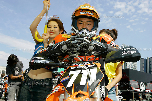MOTO D1 & D2 DAIBA SPECIAL STAGE,.TOKYO, JAPAN, 19/09/2004.