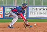 8 March 2015: Boston Red Sox infielder Jemile Weeks warms up prior to a Spring Training game against the New York Mets at Tradition Field in Port St. Lucie, Florida. The Mets fell to the Red Sox 6-3 in Grapefruit League play. Mandatory Credit: Ed Wolfstein Photo *** RAW (NEF) Image File Available ***