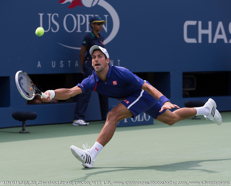 Novak Djokovic..Tennis - US Open - Grand Slam -  New York 2012 -  Flushing Meadows - New York - USA - Sunday 2nd September  2012. .© AMN Images, 30, Cleveland Street, London, W1T 4JD.Tel - +44 20 7907 6387.mfrey@advantagemedianet.com.www.amnimages.photoshelter.com.www.advantagemedianet.com.www.tennishead.net