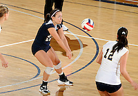 Florida International University women's volleyball player Chanel Araujo (13) plays against Florida Atlantic University.  FIU won the match 3-0 on October 26, 2011 at Miami, Florida. .