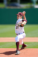 RHP Mike Dennhardt  of the Boston College Eagles  vs the FSU Seminoles at Shea Field April 7, 2010 in Chestnut Hill, MA (Photo by Ken Babbitt/Four Seam Images)