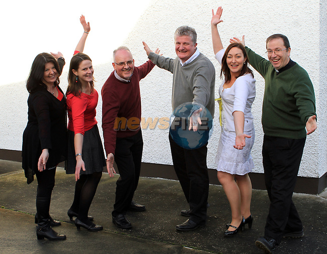 Cathy Lally (Committee),  Mary King (Dancer),  Robin Barnes (Committee),  Callystown Ns Principal Ambrose McGinnity, Eilish Deery (Dancer) and Fr.Paul Clayton Lea (Dancer) ahead of the Strictly Come Dancing Event...(Photo credit should read Jenny Matthews www.newsfile.ie)....This Picture has been sent you under the conditions enclosed by:.Newsfile Ltd..The Studio,.Millmount Abbey,.Drogheda,.Co Meath..Ireland..Tel: +353(0)41-9871240.Fax: +353(0)41-9871260.GSM: +353(0)86-2500958.email: pictures@newsfile.ie.www.newsfile.ie.