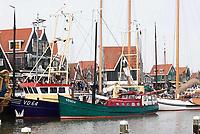Nederland - Volendam - 2018. Viskotters in de haven van Volendam.  Foto Berlinda van Dam / Hollandse Hoogte