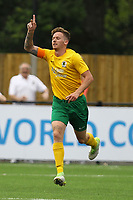 Dylan Merchant of Horsham celebrates his goal in the first half during Horsham vs Hartley Wintney, Friendly Match Football at Hop Oast on 13th July 2019