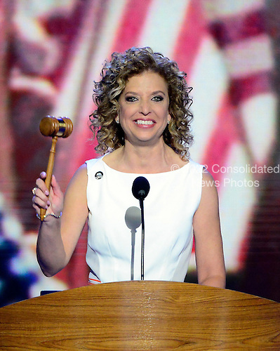 United States Representative Debbie Wasserman Schultz (Democrat of Florida), Chairman of the Democratic National Committee, calls the 2012 Democratic National Convention to order in Charlotte, North Carolina on Tuesday, September 4, 2012.  .Credit: Ron Sachs / CNP.(RESTRICTION: NO New York or New Jersey Newspapers or newspapers within a 75 mile radius of New York City)