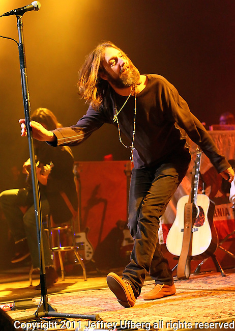 Nov. 2, 2010 New York: Singer / Musician Chris Robinson of The Black Crowes perform at The Best Buy Theatre on November 2, 2010 in New York